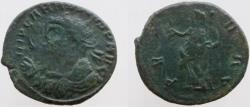 Ancient Coins - Carausius. 286-293 AD. Unlisted in RIC --; VERY RARE type with eagle-tipped sceptre.