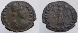 Ancient Coins - Valens. 364-375 AD. Æ follis. Bronze coins of Valens VERY RARE from Trier mint.