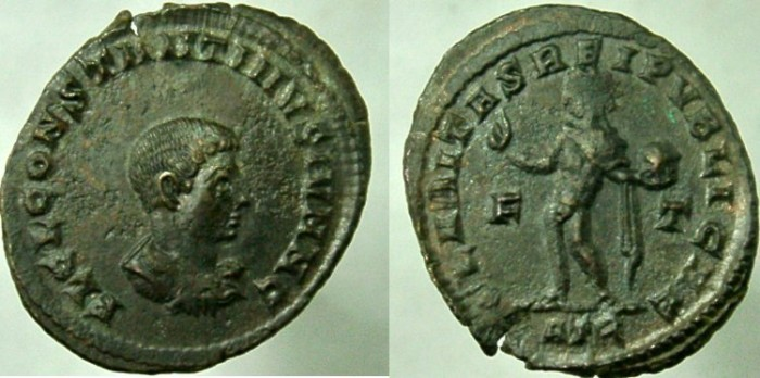Ancient Coins - Constantine II, As Caesar, AD 317-337, CLARITAS REIPVBLICAE.