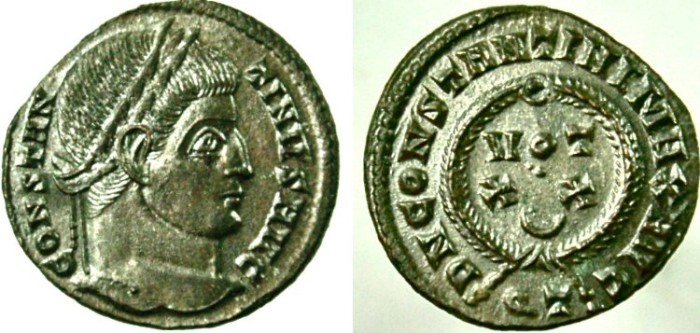 Ancient Coins - CONSTANTINE I (the GREAT), VOT XX