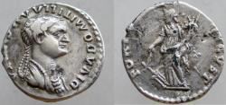 Ancient Coins - Diva Domitilla Senior. Died before 69 AD. Fourrée Denarius, FORTVNA AVGVST. VERY RARE !