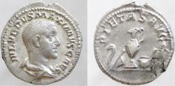 Ancient Coins - Maximus, Caesar, 235/6-238 AD. Denarius. Sharply struck and with a particularly attractive portrait.