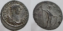 Ancient Coins - CARAUSIUS. 287-293 AD. Antoninianus. The most silvered coin of Carausius I have ever seen.