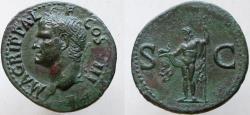 Ancient Coins - AGRIPPA. Died 12 BC. Æ As (30mm, 11.29g). Struck under Gaius (Caligula),
