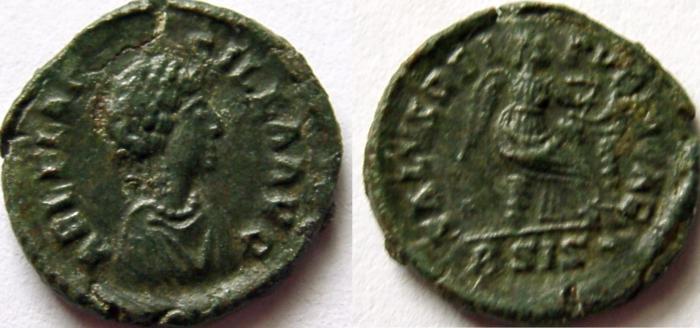 Ancient Coins - AELIA FLACCILLA, wife of Theodosius I, 379-386/8 AD. Æ 4.