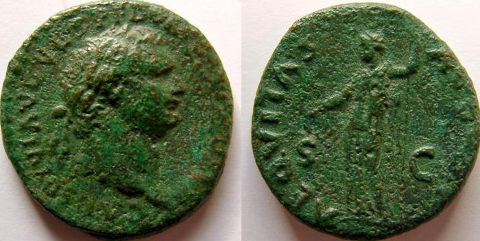 Ancient Coins - DOMITIAN. As Caesar, 69-81 AD. Æ As.