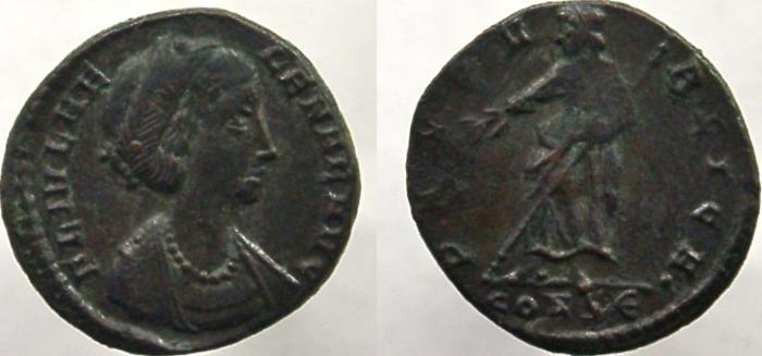 Ancient Coins - HELENA. Augusta, 324-328/30 AD. Æ-4, PAX PVBLICA.