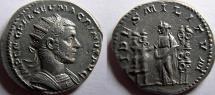Ancient Coins - MACRINUS. 217-218 AD. AR Antoninianus.  RARE denomination for Macrinus.