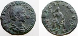 Ancient Coins - Herennia Etruscilla. Augusta; wife of Tajan Decius.  249-251 AD. Æ As. RARE !