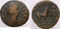Ancient Coins - Plautilla. Æ-22mm. ARGOLIS, Hermione. Roman coins from this mint are EXTREMELY RARE !