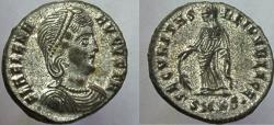 Ancient Coins - Helena. Augusta, 324-328/30 AD. Æ Follis. Good EF, nearly full silvering.