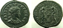 Ancient Coins - CRISPUS. Caesar, 317-326 AD. Æ Follis. VERY RARE with Radiate head.