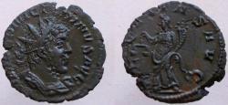 Ancient Coins - Victorinus, 269-271 AD. Antoninianus with MARIUS facial features, AEQVITAS AVG.