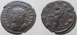 Ancient Coins - Philip I. 244-249 AD. AR Antoninianus, Nice Dark toning. RARE Bust left.