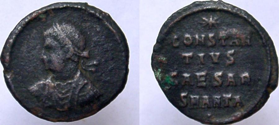 Ancient Coins - CONSTANTIUS II. As Caesar, 324-337 AD. Æ Follis. Anepigraphic.
