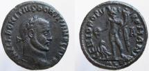 Ancient Coins - Domitius Domitianus. Usurper, 297-298 AD. Æ Follis. RARE !!