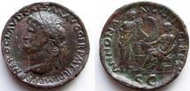 Ancient Coins -  Nero. 54-68 AD. Æ Sestertius / protocontorniate.