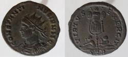 Ancient Coins - Constantine II. 316-337 AD. Æ Follis. Radiate bust left from Trier. VERY RARE !