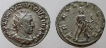 Ancient Coins - Aemilian. 253 AD. AR Antoninianus. Hercules standing right.
