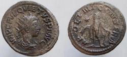 Ancient Coins - QUIETUS. Usurper, 260-261 AD. Antoninianus, APOLINI CONSERVA.
