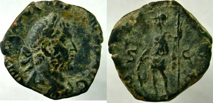 Ancient Coins - GALLIENUS. 253-268 AD. Æ As, NOT IN RIC.