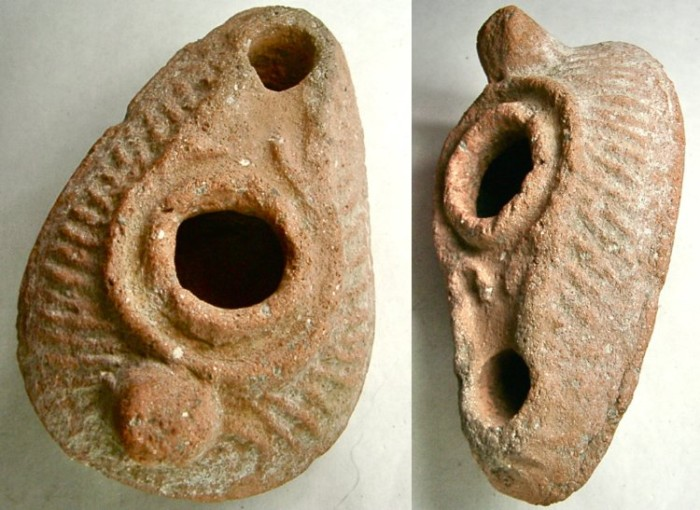 Ancient Coins - OIL LAMP made from burned clay. PRICED FOR QUICK SALE !!