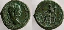 Ancient Coins - GETA. 209-211 AD. Æ As, FORT RED TR P III COS II P P, SC.
