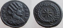 Ancient Coins - Fausta. Augusta, 324-326 AD. Æ Follis. Star within wreath. Rare without the mintmark.