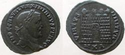 Ancient Coins - Galerius. 305-311 AD. Æ Follis. Camp gate with four turrets. RARE !!