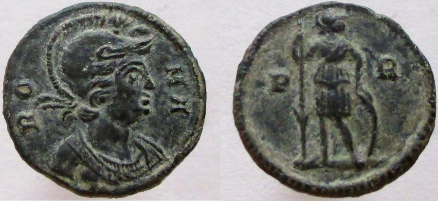 Ancient Coins - Commemorative Series. 330-354 AD. Æ-Small Medallion. VERY RARE !