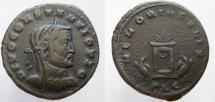 Ancient Coins - CONSTANTIUS I, Æ Follis, DIVO CONSTANTIO PIO. VERY SCARCE from Lugdunum (Lyon) mint.