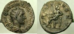 Ancient Coins - HERENNIUS ETRUSCUS, as Caesar. 250-251 AD. AR Antoninianus, PRINC IVVENT.
