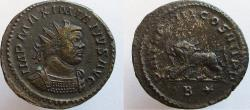 Ancient Coins - Maximianus. 286-305 AD. Lion holding thunderbolt in its mouth. VERY RARE !