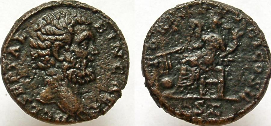 Ancient Coins - Clodius Albinus. As Caesar, 193-195 AD. Æ As. RARE denomination.