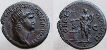 Ancient Coins - Nero. 54-68 AD. Æ Radiate-As. GENIO AVGVSTI. Æ Radiate-As - NOT a dupondius.