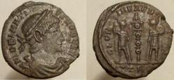 Ancient Coins - Delmatius. Caesar, 335-337 AD. Æ. Trier mint; VERY RARE, listed as R-5.