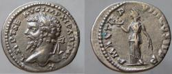 Ancient Coins - SEPTIMIUS SEVERUS. 193-211 AD. AR Denarius. VERY RARE LEFT BUST!