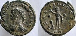 Ancient Coins - AURELIAN, 270-275 AD. Antoninianus, silvered. RARE BUST LEFT.