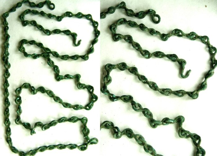 Ancient Coins - ROMAN BRONZE CHAIN. Probably from a scale.