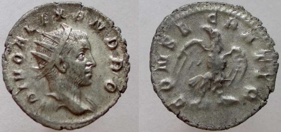 Ancient Coins -  SEVERUS ALEXANDER; DIVO. Died 235 AD. Restitution issued under Trajan Decius.