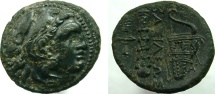 Ancient Coins - ALEXANDER III 'the Great'. 336-323 BC. Æ 19mm. Club and bow-in-bowcase, and torch.
