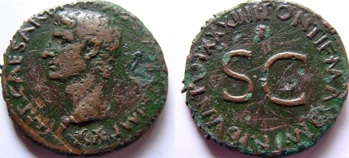Ancient Coins - Augustus. 27 BC-14 AD. Æ As.