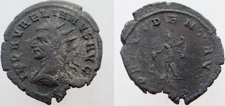 Ancient Coins - Aurelian.  270-275 AD. Antoninianus. VERY RARE coin with only 2 listed on RIC on-line !