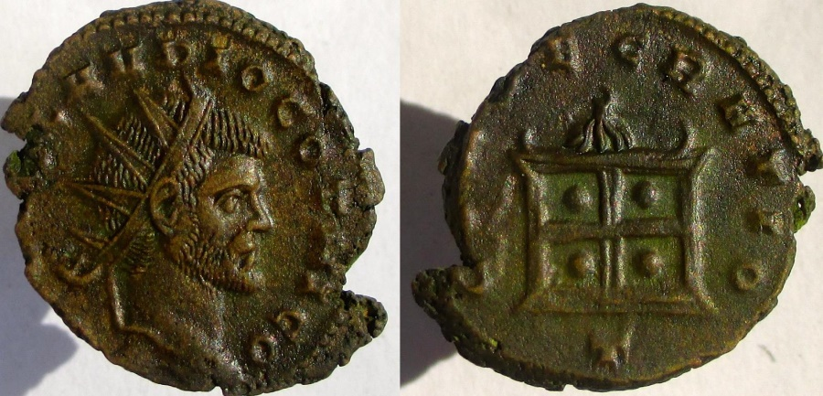Ancient Coins - Claudius II Gothicus. DIVO CLAVDIO GOTHICO.  Hard to find with GOTHICO in legend.