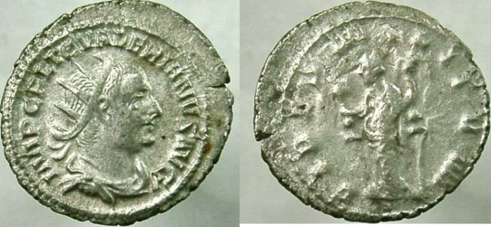 Ancient Coins - VALERIAN I. 253-260 AD. AR Antoninianus, FIDES MILITVM.