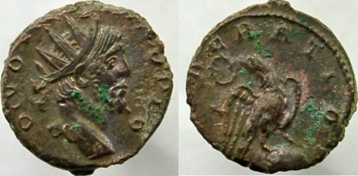 Ancient Coins - DIVO VICTORINUS. Died AD 271, Eagle with wreath in beak. VERY RARE, NOT LISTED IN RIC.