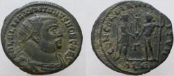 Ancient Coins - Galerius. As Caesar, 293-305 AD. GAL AL MAX. Unlisted in RIC with V missing.