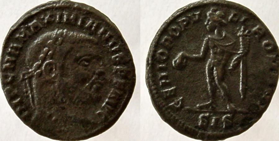 Ancient Coins - Maximianus. First reign, 286-305 AD. Æ Quarter Follis. SCARCE.