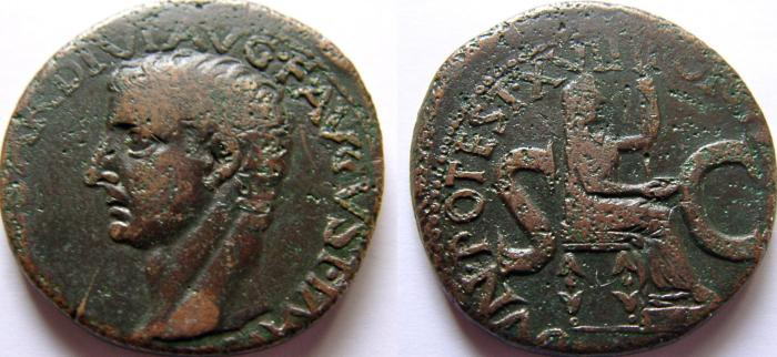 Ancient Coins - TIBERIUS. 14-37 AD. Æ As.