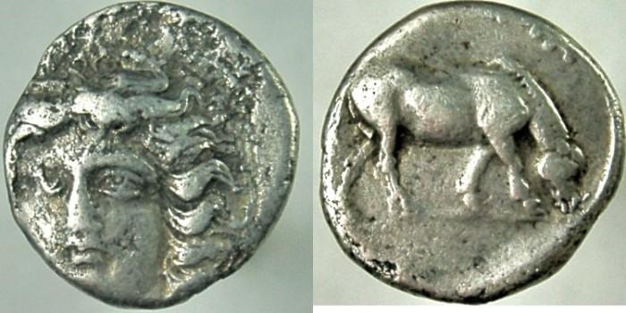 Ancient Coins - THESSALY, Larissa.  Circa 400-380 BC. AR Drachm